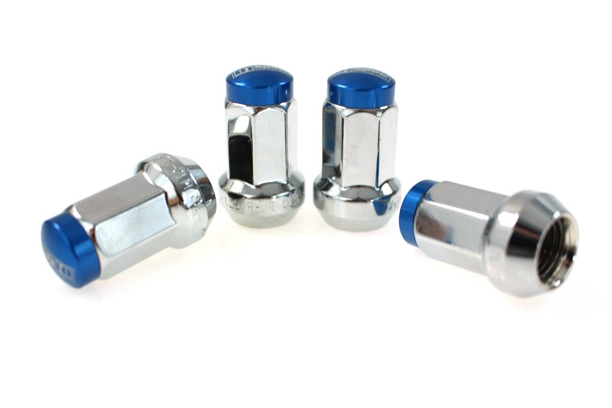 Kute nakrętki D1Spec Stal 12x1.5 Silver/Blue - GRUBYGARAGE - Sklep Tuningowy